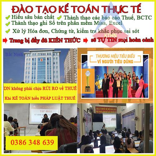 Khóa học kế toán tổng hợp thực hành thực tế tốt nhất Bắc Ninh.