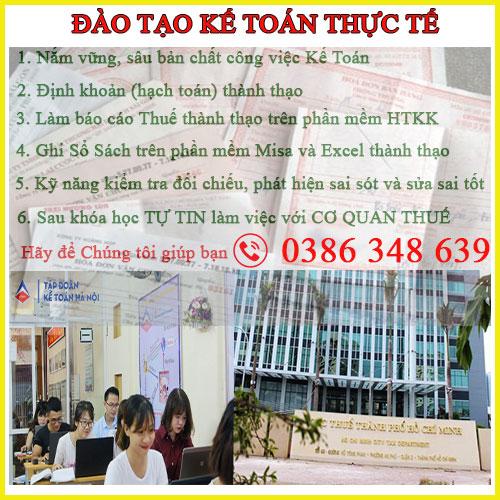 Khóa học đào tạo Kế toán thực tế tại thành phố Biên Hòa Đồng Nai