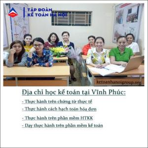 Dia Chi Hoc Ke Toan Tai Vinh Phuc
