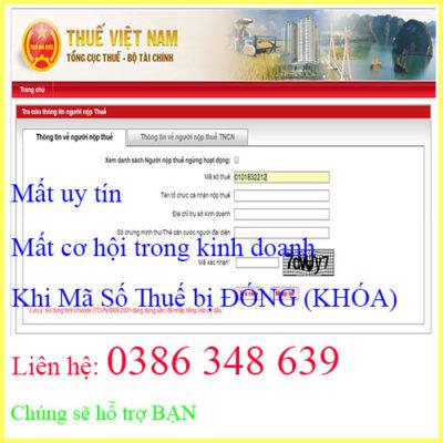 Dịch Vụ Mở Lại Mã Số Thuế Nhanh, Đúng Hạn, Giá Rẻ