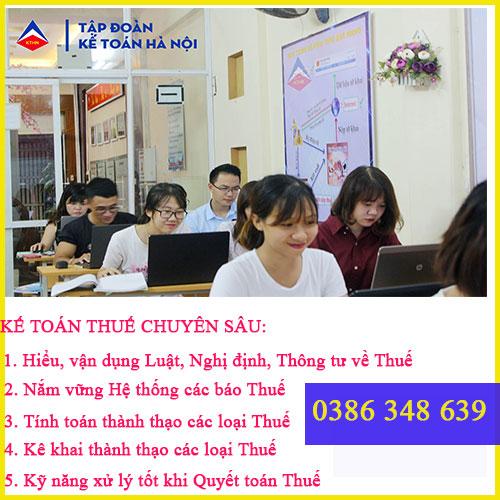 Trung tâm đào tạo kế toán thuế tại Thanh Xuân TỐT nhất