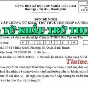 Chung Tu Khau Tru Thue Thu Nhap Ca Nhan