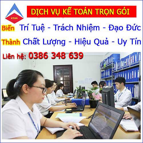 Nhận làm Dịch vụ kế toán thuế trọn gói tại Hà Nội