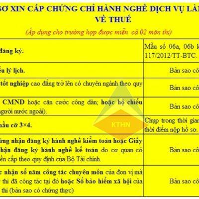 Ho So Xin Cap Chung Chi Dai Ly Thue