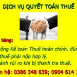 Dịch Vụ Quyết Toán Thuế TỐT NHẤT Tại Thanh Oai Hà Nội