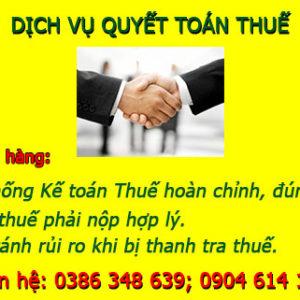 Dich Vu Quyet Toan Thue Tai Ho Chi Minh