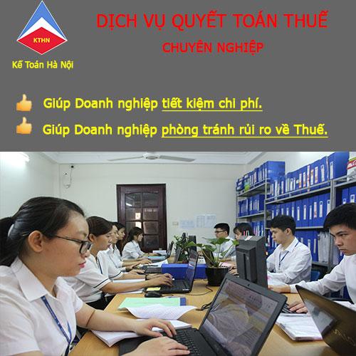 Dịch vụ tư vấn quyết toán thuế của Kế toán Hà Nội