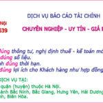 Nhận Làm Báo Cáo Tài Chính Tại Bắc Ninh Chuyên Nghiệp Uy Tín
