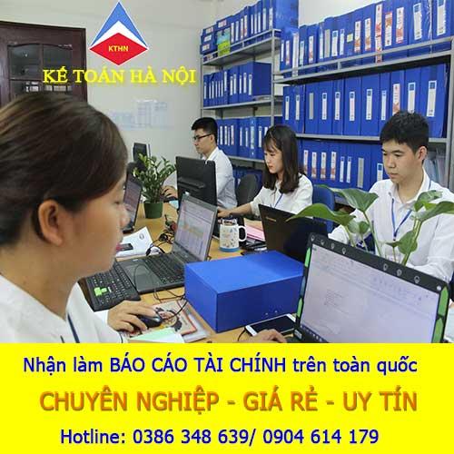 Nhận làm Dịch vụ làm báo cáo tài chính tại Thường Tín Hà Nội
