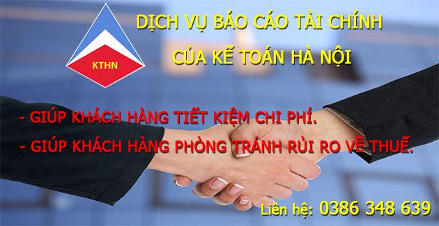 Dịch vụ làm báo cáo tài chính tại Phú Xuyên Hà Nội