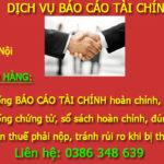Công Ty Làm Dịch Vụ Báo Cáo Tài Chính Tại Hạp Lĩnh Bắc Ninh