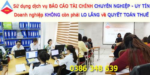 Dịch vụ làm báo cáo tài chính tại Quế Võ Bắc Ninh