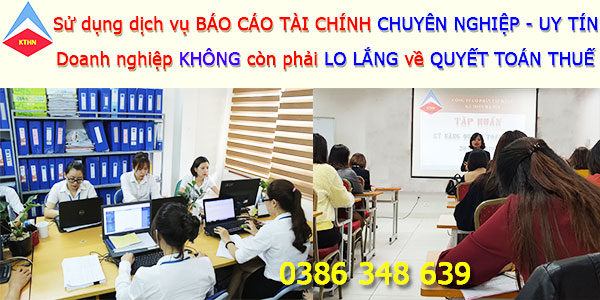 Dịch vụ làm báo cáo tài chính tại Hoàn Kiếm Hà Nội