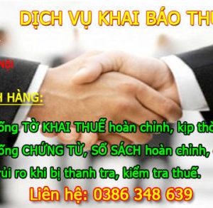 Dich Vu Khai Bao Thue Tai Bac Giang