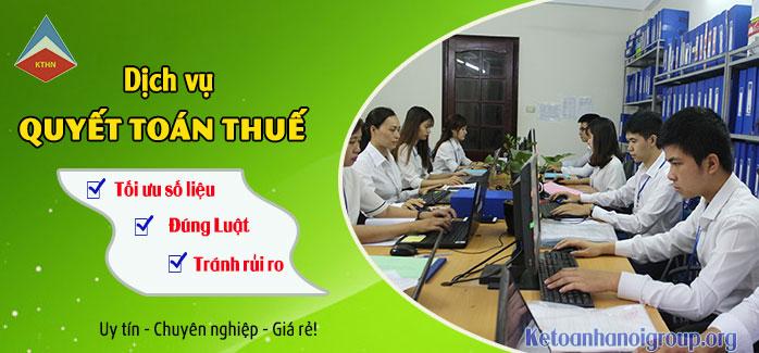 Dịch vụ quyết toán thuế cuối năm tại Sóc Sơn Hà Nội
