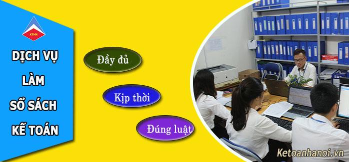 Dịch vụ làm sổ sách kế toán tại Khắc Niệm Bắc Ninh