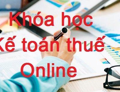 Khóa Học Kế Toán Thuế Online