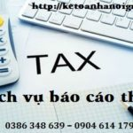 Dịch Vụ Làm Báo Cáo Thuế Tại Quận Dương Kinh Hải Phòng