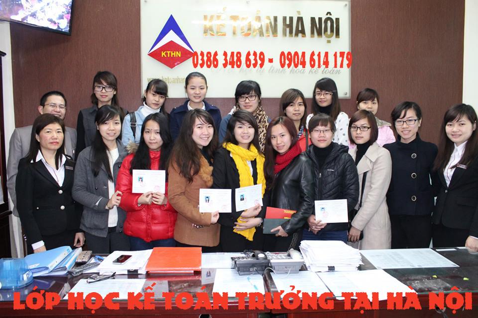 lớp học kế toán trưởng tại Long Biên