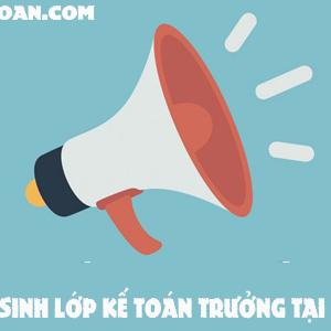 Tuyen Sinh Lop Ke Toan Truong Tai Ha Noi