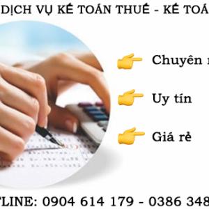 Cong Ty Dich Vu Ke Toan Thue