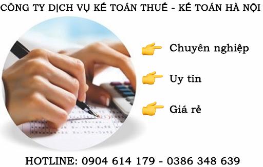 Dịch vụ kế toán thuế tại Hà Đông