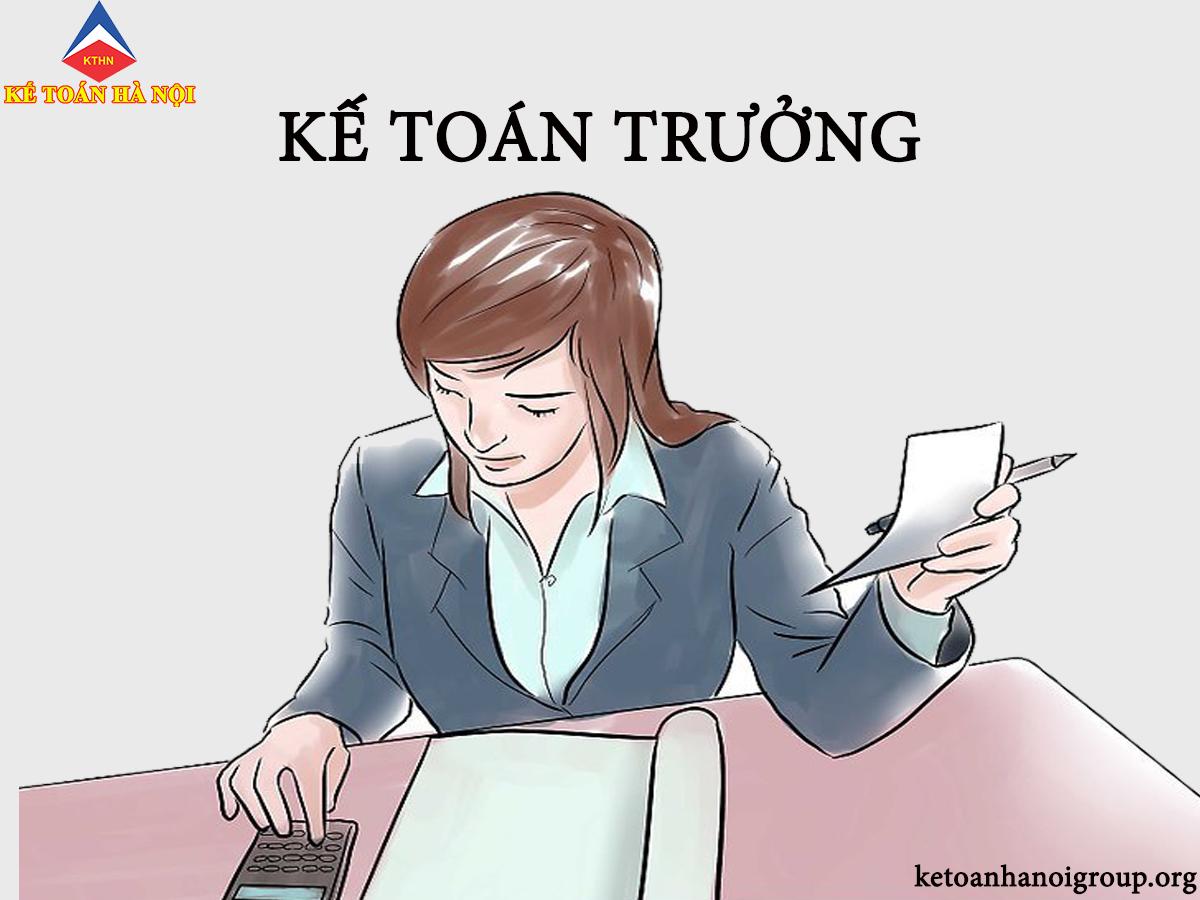 Tuyển sinh lớp kế toán trưởng tại Ninh Thuận