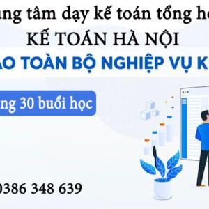 Trung Tam Dao Tao Ke Toan Tong Hop Tai Dong Anh Ha Noi