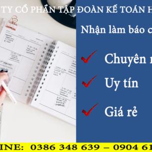 Dich Vu Lam Bao Cao Thue Tai Quan Ngo Quyen Hai Phong