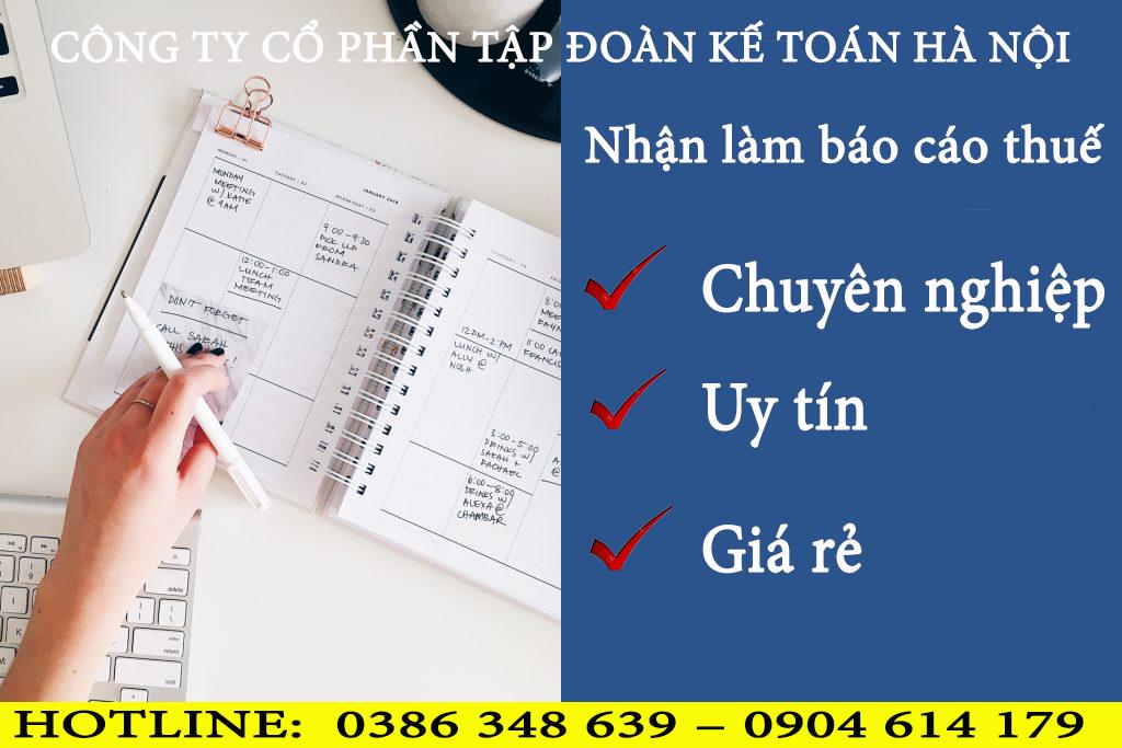 Dịch vụ báo cáo thuế tại Đồ Sơn Hải Phòng TỐT NHẤT