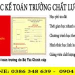 Khóa Học Kế Toán Trưởng Tại Thanh Xuân Hà Nội Chất Lượng Cao