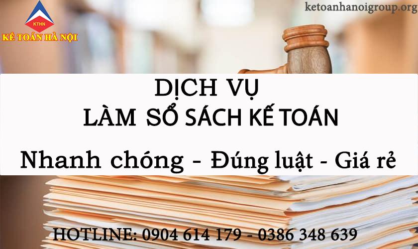 Dịch vụ làm sổ sách kế toán tại Phong Khê Bắc Ninh