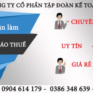 Dich Vu Lam Bao Cao Thue Tai Quan Le Chan Hai Phong