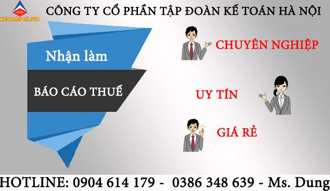 Công ty làm dịch vụ báo cáo tài chính tại Văn Lâm