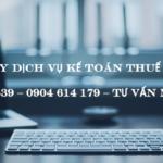 Công Ty Dịch Vụ Kế Toán Thuế Tại Quế Võ Bắc Ninh Uy Tín