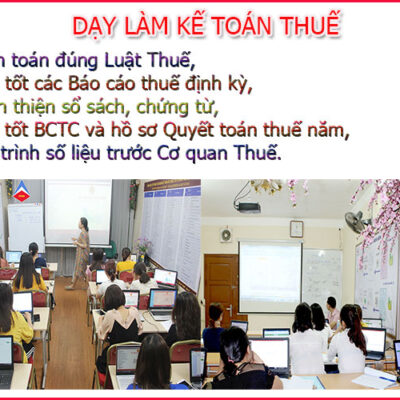 Lớp Học Kế Toán Thuế Tại Kiến An Hải Phòng Giá Rẻ Uy Tín